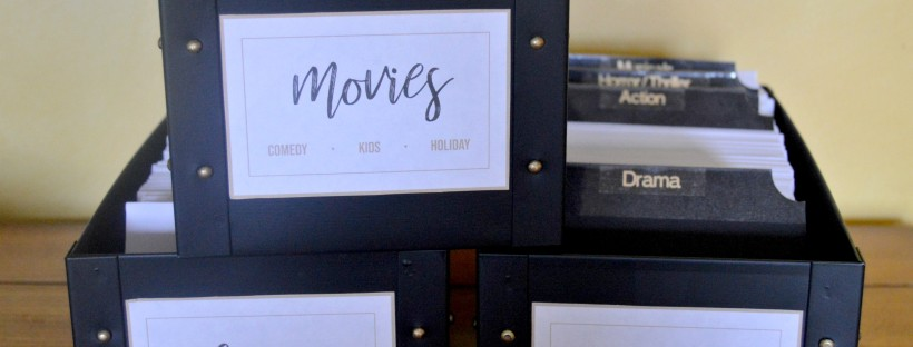 diy easy functional dvd storage the lovely life